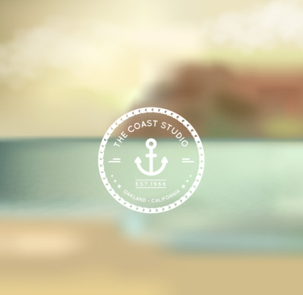 Background vector material of fuzzy summer beach scenery