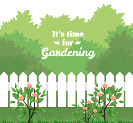 Green Garden illustrator vector material