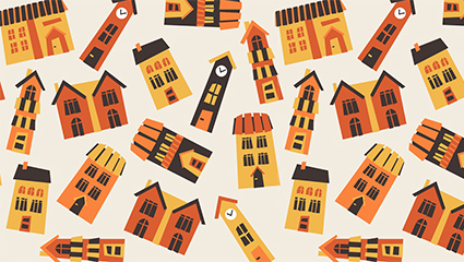 Creative Housing seamless background vector