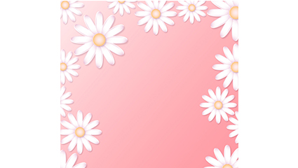 Margaret White flower background vector material