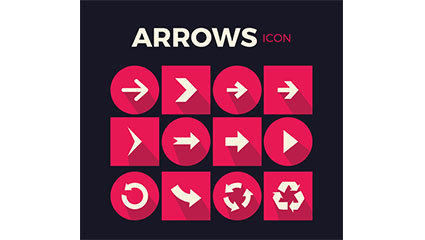 12 arrow icon vector material