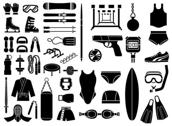 Various sketch elements of vector material