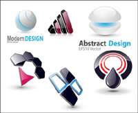 6 Vector 3D graphics icon