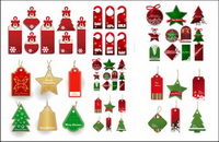 Christmas sales of discount label vector