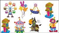 Cute cartoon of the playground icon 02 - vector
