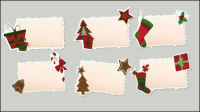Christmas elements stickers 02 - vector material
