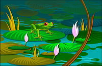 Lotus leaf frogs