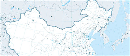 1:400 million Chinese map (rail transport)